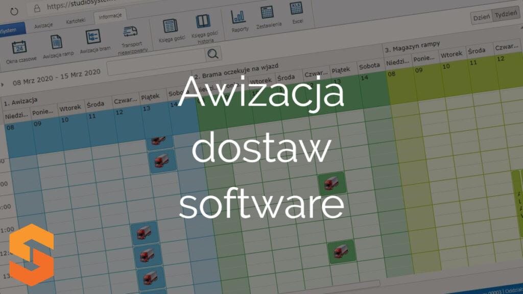 Awizacja dostaw software